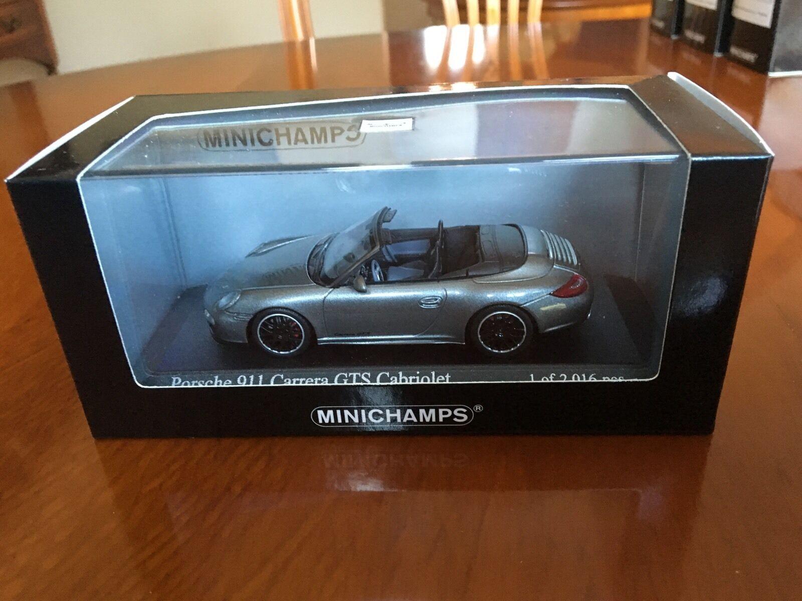 Minichamps Porsche 911 Carrera GTS Cab (997 II), 2011. Met Grey, 1 43 Diecast.