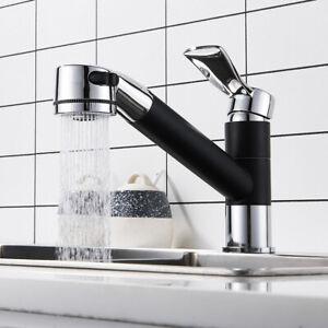 Ausziehbar Küchenarmatur Wasserhahn Schwarz Mischbatterie ...