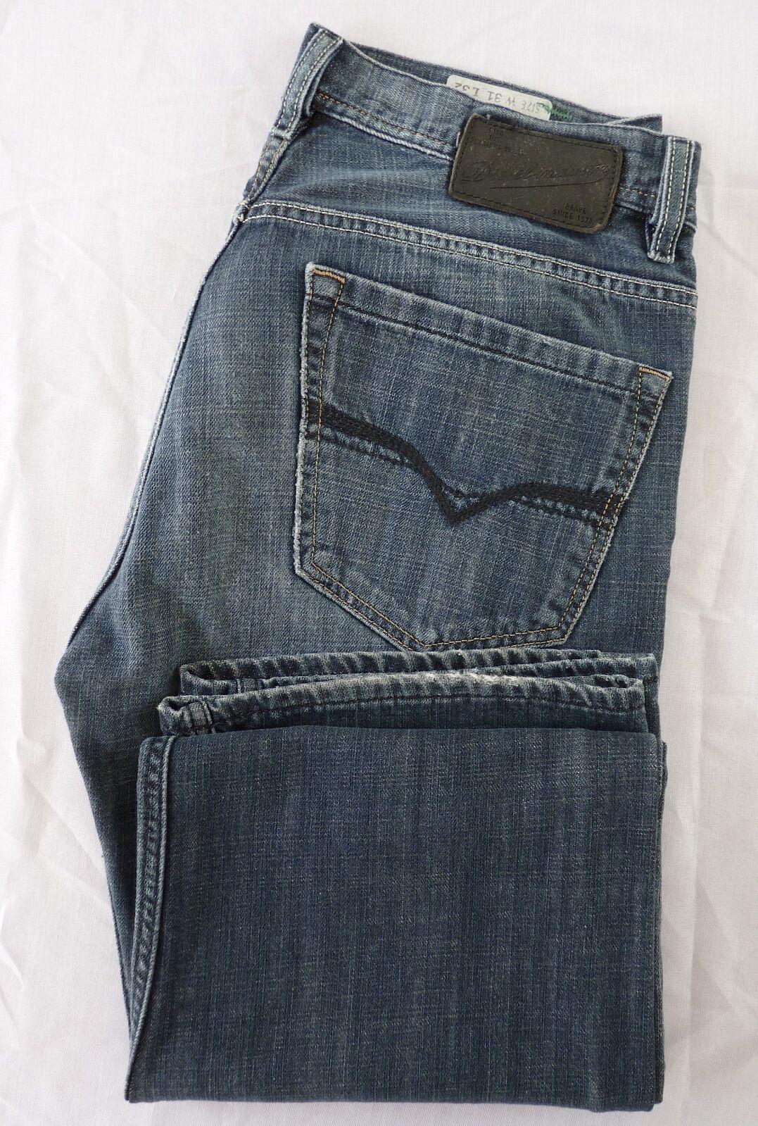 Diesel Quratt 008FI Straight Leg Button Fly Jeans 100% Cotton Size 31  MINT