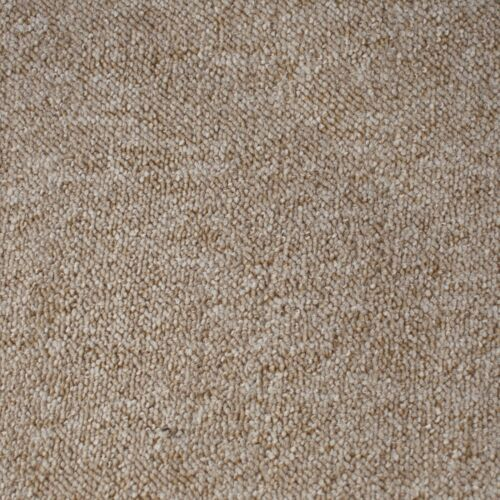HARDWEARING CHEAP Berber Loop Pile Felt Back Beige Carpet 5m Wide Remnant
