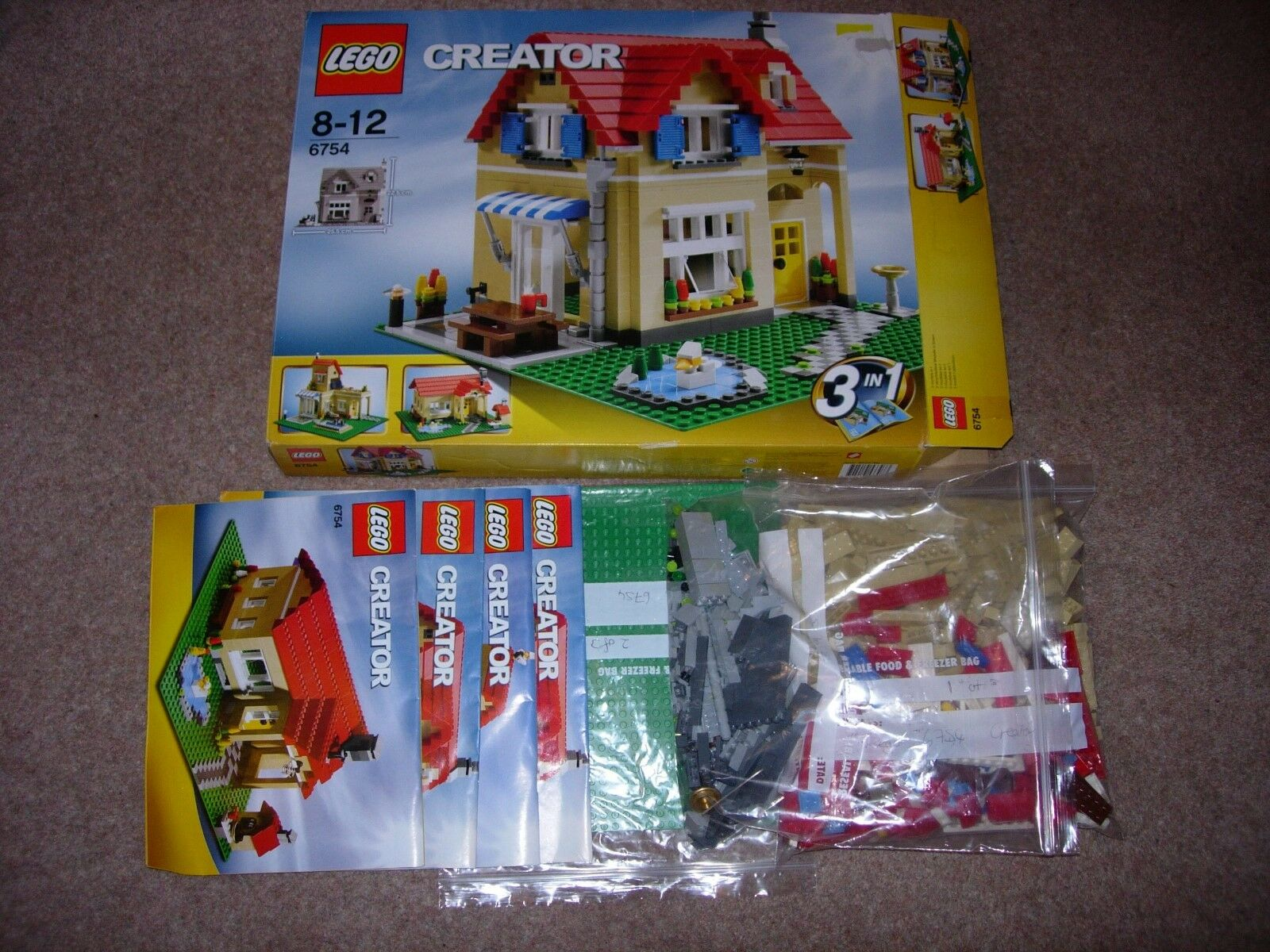 Lego Creator 6754 Family Home (3 in 1; 100% complete; boxed; instructions)