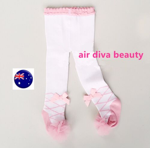 Girls Kids Baby Toddlers White Lace bow warm Stockings Tights Opaques 0-2yeas