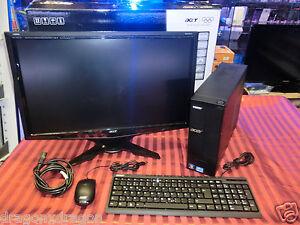 ACER-Aspire-x1935-desktop-PC-amp-Monitor-Acer-g245hq-Intel-i5-Quad-2j-GARANZIA