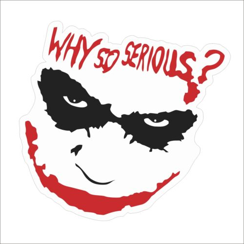 Hot Sale WHY SO SERIOUS Graphics Vinyl Hard Hat Car Stickers Decal Helmet Decor