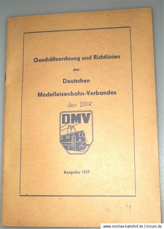 TEDESCO modellino ferrovia ASSOCIAZIONE der DDR geschäftsordnung LINEE GUIDA