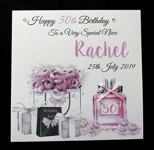 Friend 18th 21st 16th 30th Daughter Sister Aunty Personalised Birthday Card