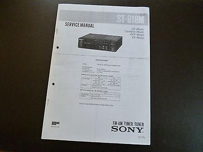 Service Manual Sony St-818m üBereinstimmung In Farbe Tv, Video & Audio