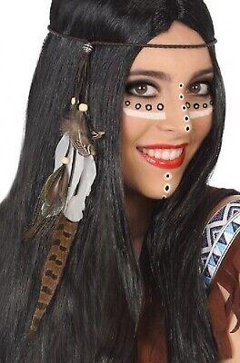 2019 Moda Donna Indiano Piuma Copricapo Wild West Tv Film Hen Do Costume Accessorio-mostra Il Titolo Originale Imballaggio Di Marca Nominata