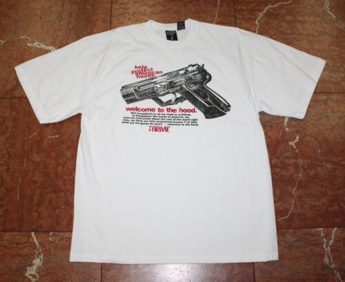 Men/'s ARME The HK9 White Short Sleeve Tee Shirt
