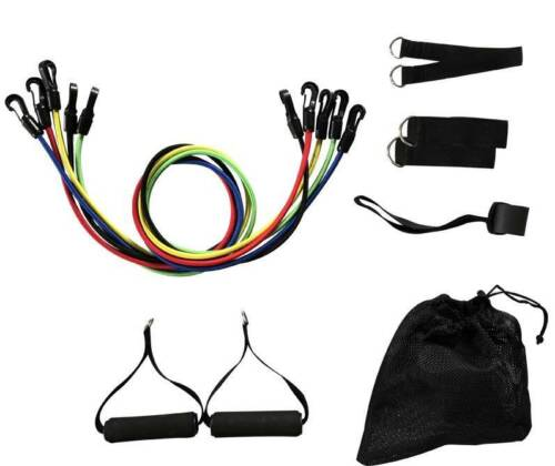 11pcs Set 100LB Exercise Yoga SHIP FROM USA LOT Home Workout Resistance Bands