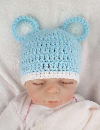 Mütze Neugeborene  Babymütze Bär Maus Fotoshooting NEU Kopfum 35-40cm