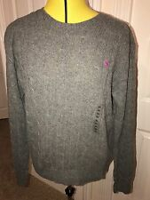 BNWT Ralph Lauren Grey Julianna Merino Wool/Cashmere Crew Neck Jumper. Size XL