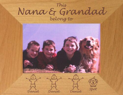 MOTHERS DAY GIFT PERSONALISED PHOTO FRAME MUMMY MOM NANNY DADDY GRANDPA BIRTHDAY