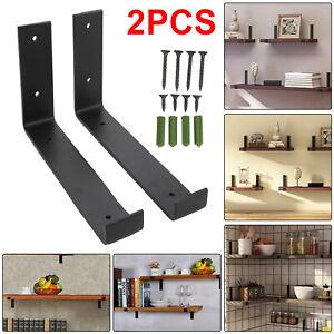 Rustic Scaffold Board Shelf Pair of Brackets Industrial Heavy Duty Steel Bracket