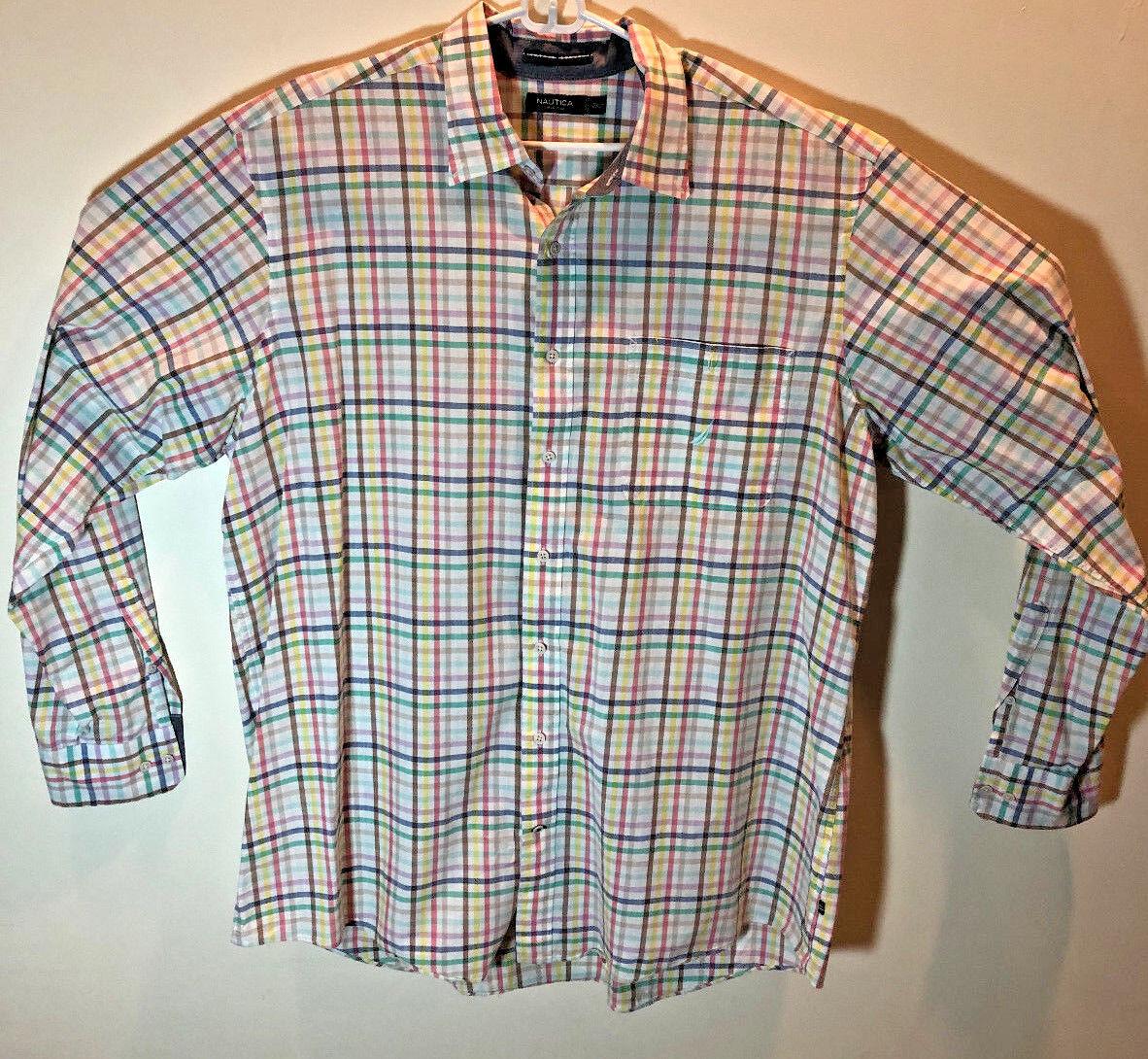 Nautica Men's 2XLT 100% cotton Long sleeve shirt