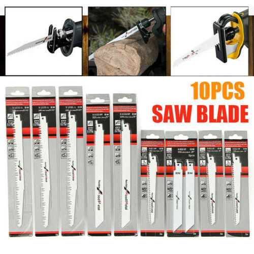 """10x Reciprocating Sabre Saw Blades Wood/&Metal Cutting 6/"""" 8/"""" Fit For Bosch Makita"""