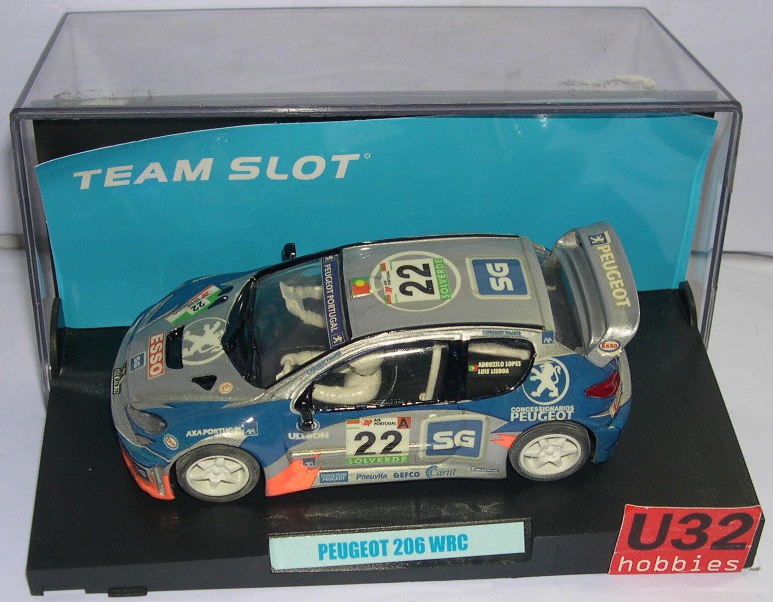 FN TEAM SLOT 11003 PEUGEOT 206 WRC  22 RALLY DU PORTUGAL 2000 AGENCE