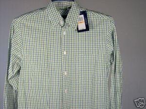 Best-Izod-LS-Shirt-Green-White-Heather-Blue-S-Mens-New