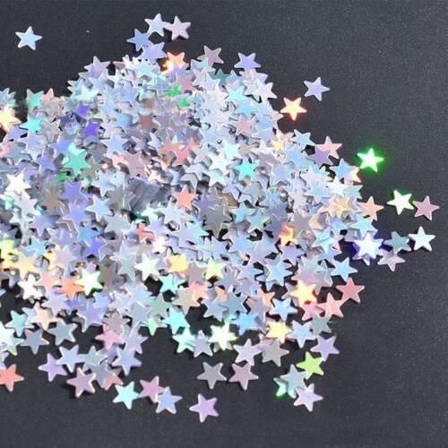 Iridescent Sparkle Star Glitter Confetti Table Scatter Decor Party Supplies
