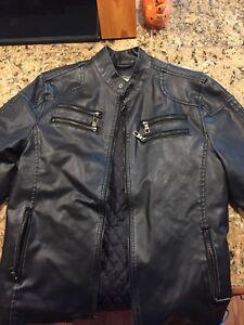 Men-039-s-American-Rag-Motorcycle-Jacket-Medium-Black