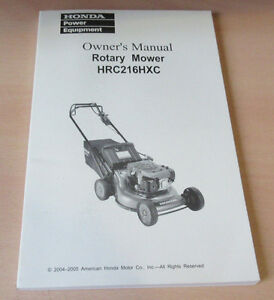 honda hrc216hxc owners manual part 00x38 vk6 7100 free rh ebay co uk honda lawn mower service manual honda mower owners manual download