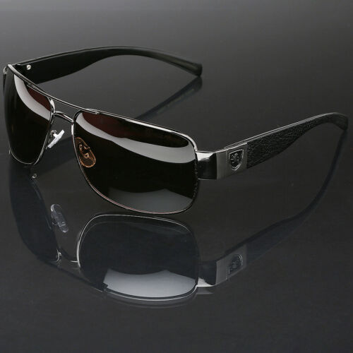 Polarized Sunglasses Retro Square Aviator Anti-Glare Driving Fishing Men Glasses