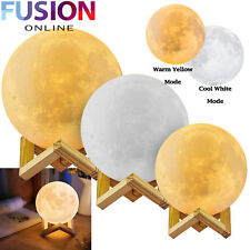 3D LED MOON LAMP LUNA NIGHT LIGHT USB CHARGING TOUCH CONTROL GIFT from 12.79
