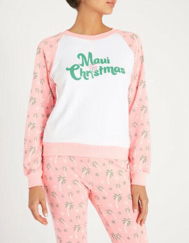 Haut femme Wildfox Maui Noël WCO1903E3 Sweat-shirt décontractée cwns Blanc Taille S