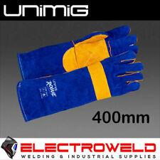 Unimig Rogue 400mm 680mm Long Heavy Duty Welding Gloves Mig Leather Welder