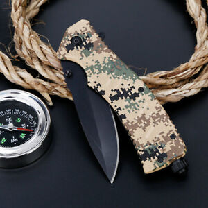 9-034-Tactical-Knife-Pocket-Folding-Blade-Open-Survival-Outdoor-Hunting-Military