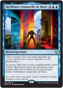 MTG-Magic-DOM-Karn-039-s-Temporal-Sundering-Dechirure-temporelle-de-French-VF
