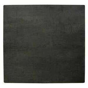 New Table Top Square Outdoor 700mm Flat Edge Cafe Commercial Black Steel