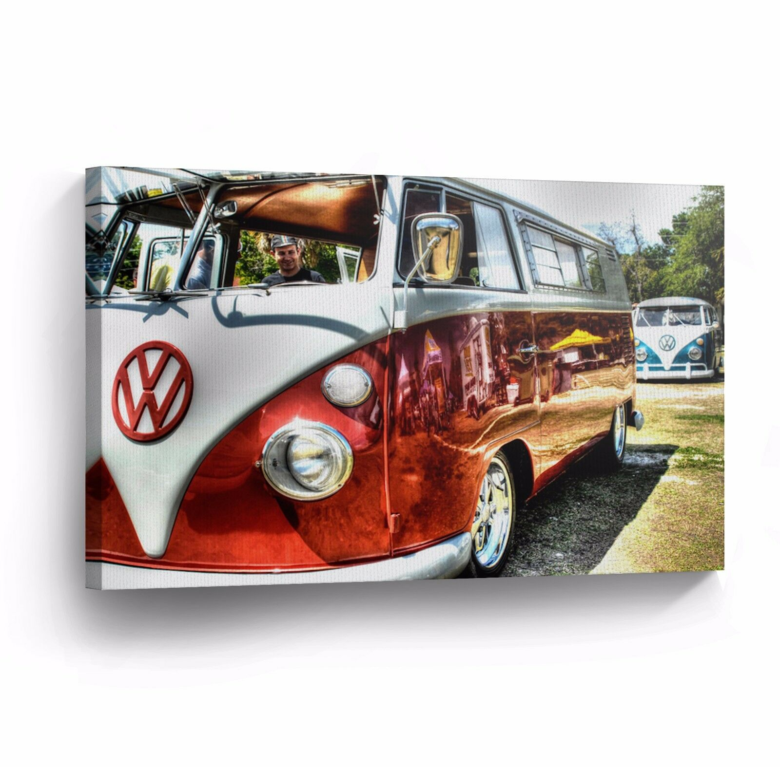 Canvas Wall Art Photo Print VW Classic Vintage Car Bus Camper Volkswagen VWH19