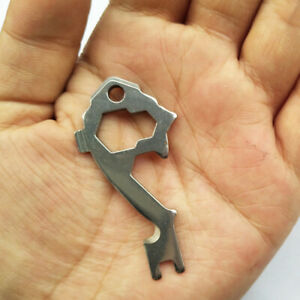 """EDC Multi Tool Opener Wrench KeyChain Outdoor Survival Camping Pocket Tool /"""""""