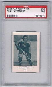 1951-Bas-Du-Fleuve-Hockey-Card-Matane-26-Real-Lafreniere-Graded-PSA-7