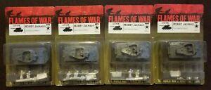 Flames of War American - US108 M36B1 Jackson Tank Destroyers - Lot of 4 - OOP