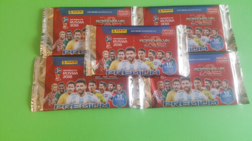 Panini Adrenalyn WM World Cup Russia 2018 5 x Premium Booster 1 Limited Edition