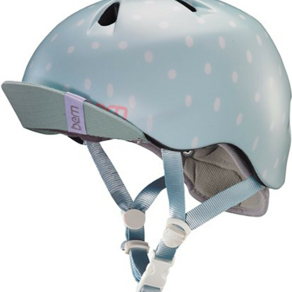 Bern Nina Helmet Satin Dot Seaglass Polka Dot Satin XSS Bicycle Skate Bike Child Safety 6c1784