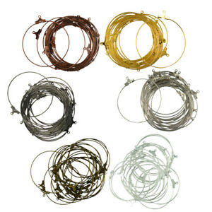 120pcs-Brass-40mm-Round-Ear-Wire-Loop-Earring-Findings-DIY-Making-Crafts