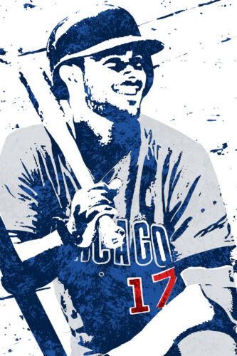 POSTER 24x36 Kris Bryant Chicago Cubs Art Wall Indoor Room Outdoor Poster