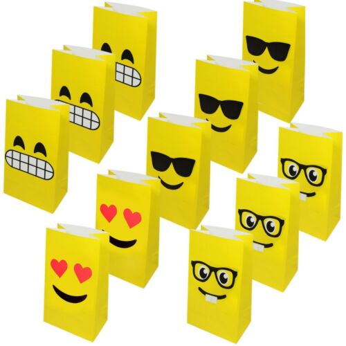 Emoji Children's Paper Party Gift Bags 36 Pack
