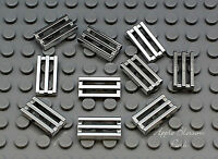 10 Lego 1x2 Chrome Silver Bar Tile Car Truck Vehicle Engine Grill/fire Grate