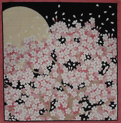 Furoshiki Japanese Cotton 'Cherry Blossoms in the Moonlight' Sakura Fabric 50cm