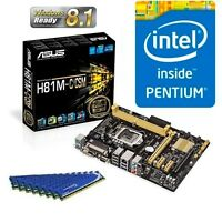INTEL G3220 DUAL CORE CPU ASUS H81 MOTHERBOARD 8GB DDR3 MEMORY RAM COMBO KIT
