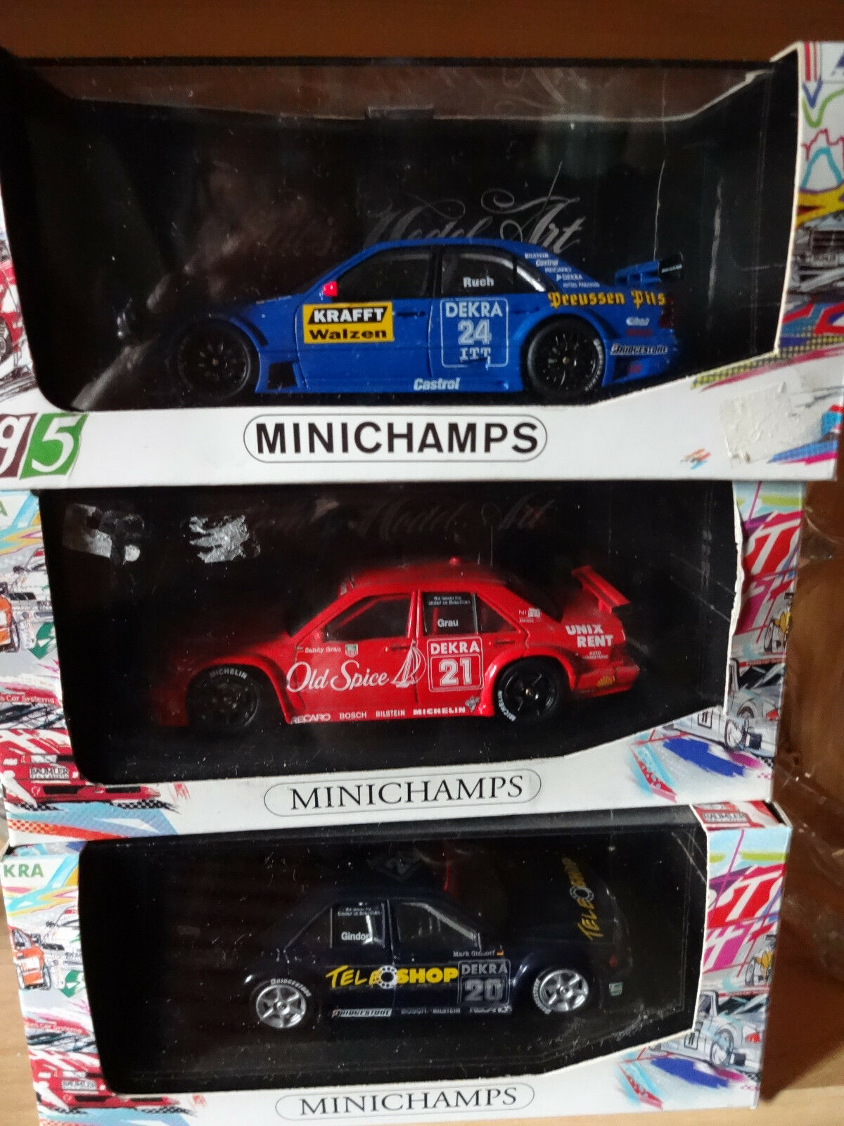 Lot de 3 3 3 anciennes MERCEDES DTM MINICHAMPS (voir photos et détail) 44c800