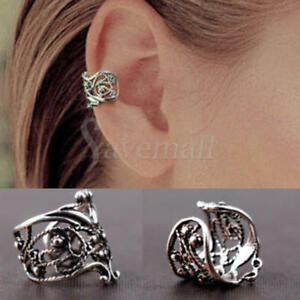 Image Is Loading 2pcs Ear Cuff Earrings Set Cartilage Wrap Clip
