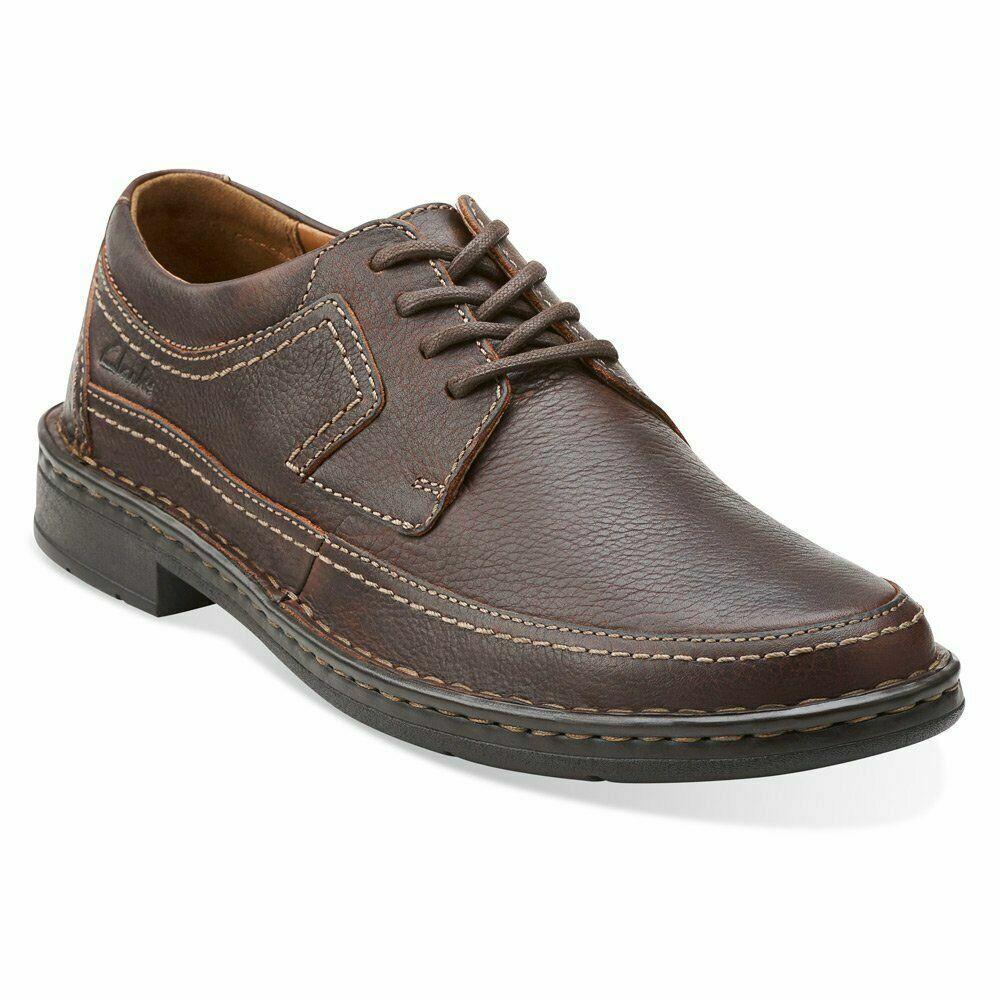 Clarks Homme Kyros Edge Marron en Cuir à Lacets Chaussures Taille UK 8,9, 9.5, 10,11 G
