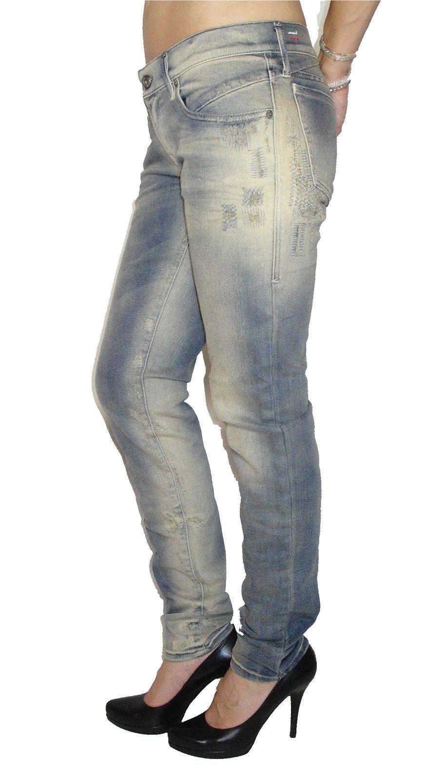 Diesel Damen Stretch Jeans GETLEGG 0830I slim Skinny blau NEU
