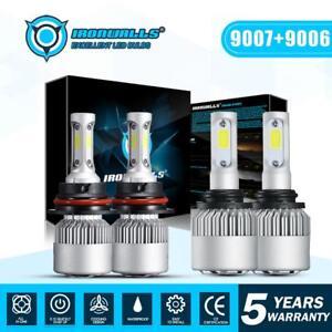 9007 LED Headlight+9006 Fog Lights Combo for 2002-2005 Dodge Ram 1500 2500 3500