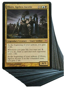 ***Custom Commander Deck*** Oloro Ageless Ascetic - Life Gain - EDH Magic Cards